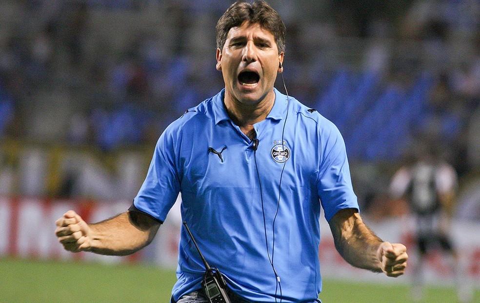Renato Gaúcho na primeira passagem pelo Grêmio (Foto: (Foto: Agência Estado))