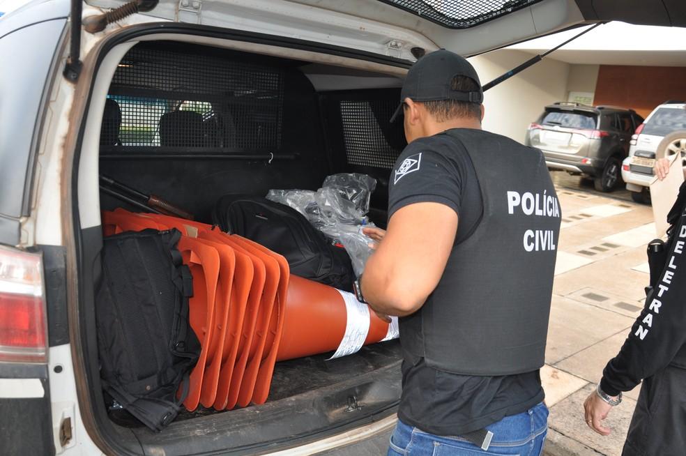 Terceira fase da operação Polygonum foi desencadeada pela Delegacia Especializada do Meio Ambiente. — Foto: Polícia Civil MT/Assessoria