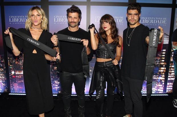 Giovanna Ewbank, Bruno Gagliasso, Giovanna Lancellotti e Caio Castro (Foto: Brazil News)