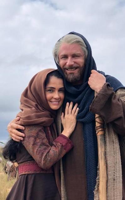 Patrícia França e Petrônio Gontijo em 'Gênesis' (Foto: Arquivo pessoal)