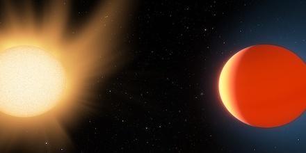Representação artística do planeta LTT9779b (Foto: Ethen Schmidt | University of Kansas)