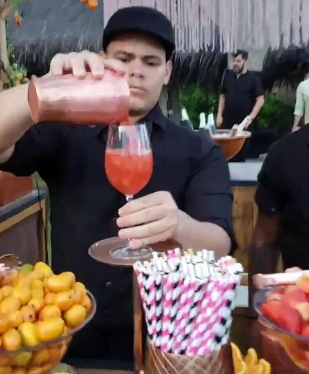 Bar do casamento da Karina Bacchi e Amaury Nunes (Foto: Instagram/ Reprodução)