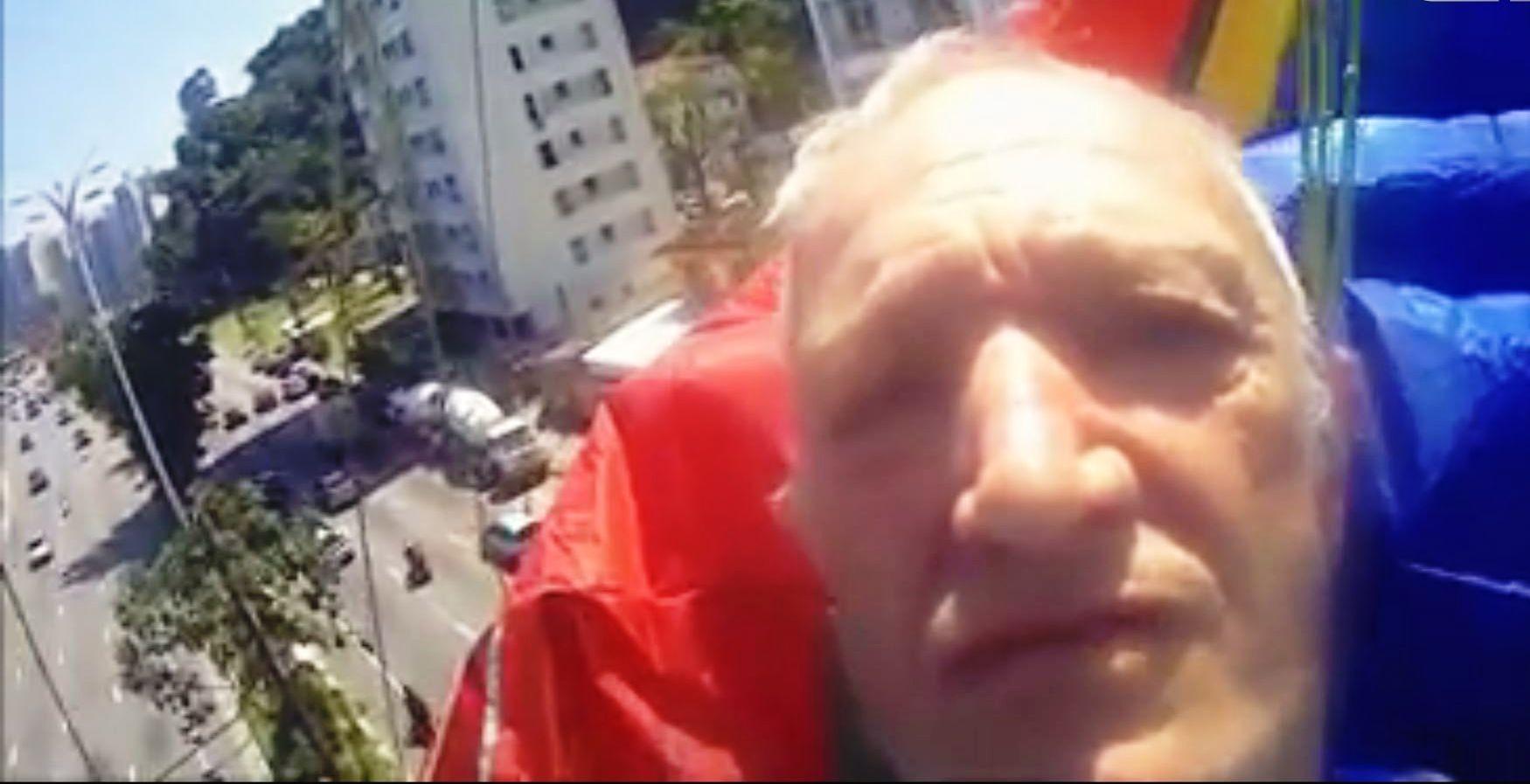 Idoso filma o próprio acidente em voo ao ser surpreendido por vento; vídeo - Radio Evangelho Gospel