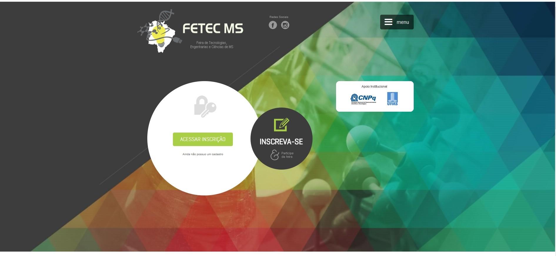 Primeira feira científica virtual de MS, Fetec abre inscrições para alunos da rede pública e privada de todo o Brasil