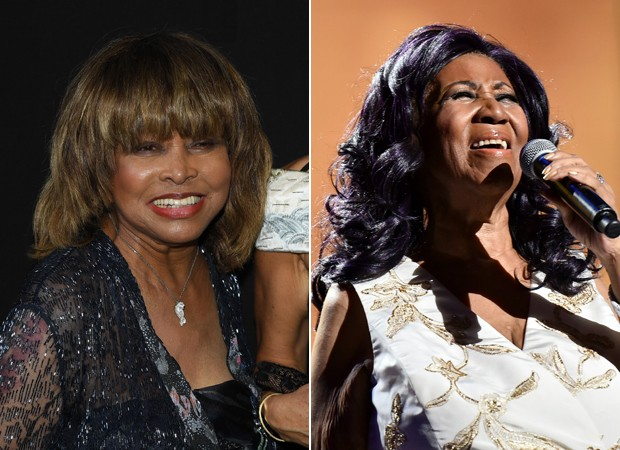 Tina Turner e Aretha Franklin (Foto: Getty Images)