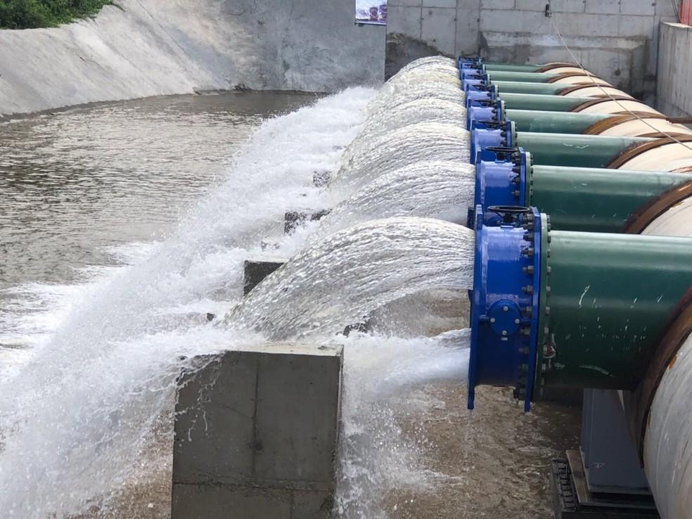 Interligação das represas do Jaguari e Atibainha (Foto: Fábio França/G1)