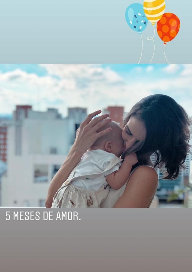 """Monica Benini comemora """"5 meses de amor"""" com Otto (Foto: Reprodução/Instagram)"""