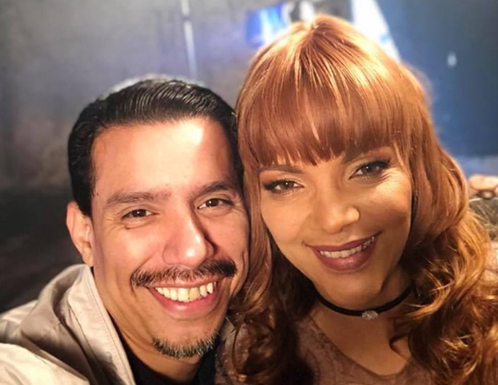 Flordelis e o marido, o pastor Anderson Carmo, morto na casa da família neste domingo (16) — Foto: Reprodução/ Facebook
