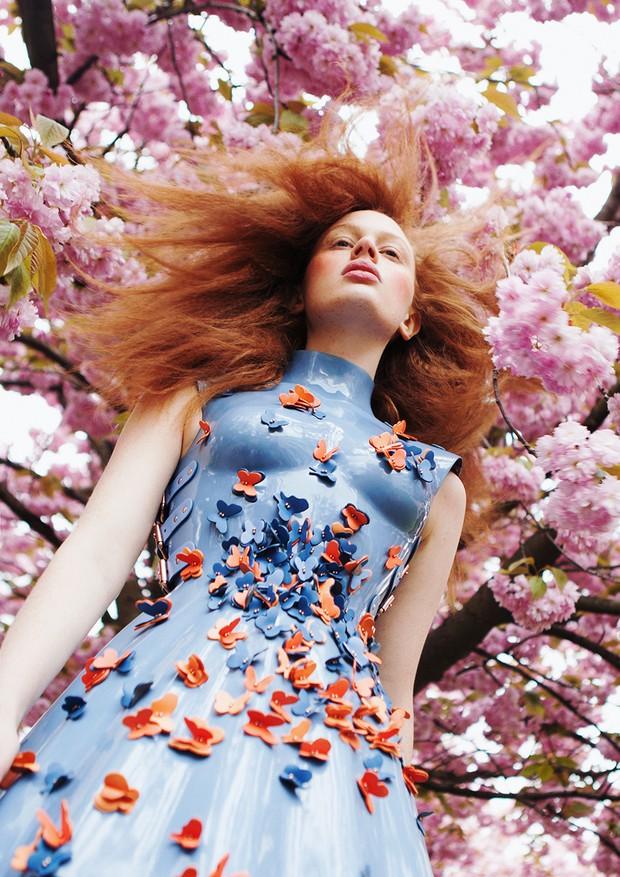 "Banco de Talentos: ""Cherry Blossom"" (Foto: Suzana Holtgrave, com styling de Anita Krizanovic e beleza por Melanie Schöne)"