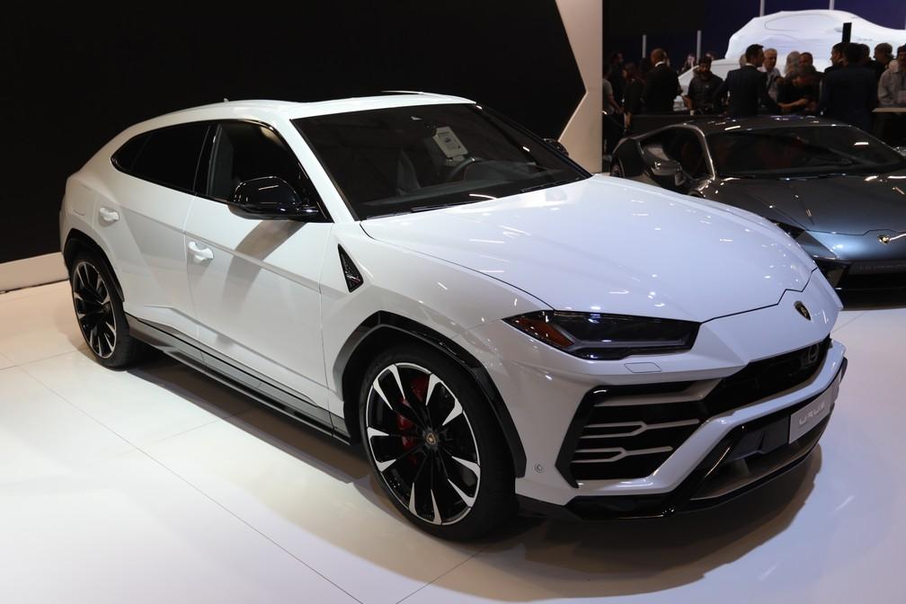 Lamborghini Urus no Salão do Automóvel 2018 — Foto: Fábio Tito/G1