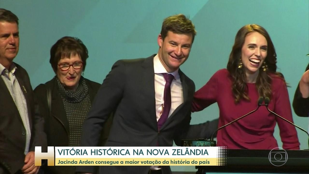 Primeira-ministra Jacinda Arden consegue vitória histórica nas eleições da Nova Zelândia