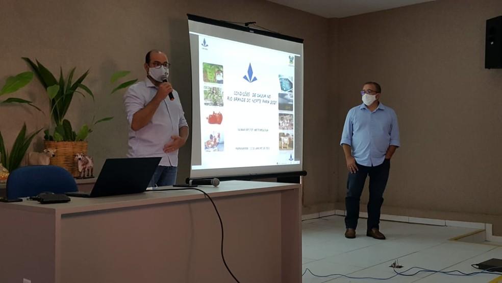 Evento para apresentar previsão de chuvas para 2021 aconteceu na terça-feira (12) — Foto: Sara Cardoso/Inter TV Cabugi
