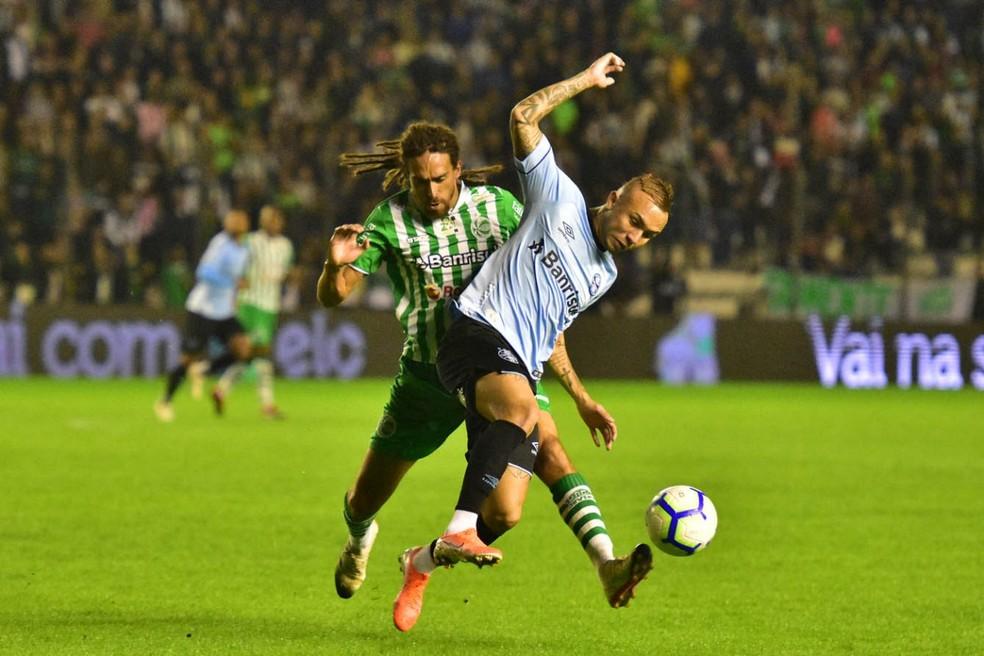 Grêmio, de Everton, trouxe empate em 0 a 0 com o Juventude — Foto: Arthur Dallegrave / EC Juventude