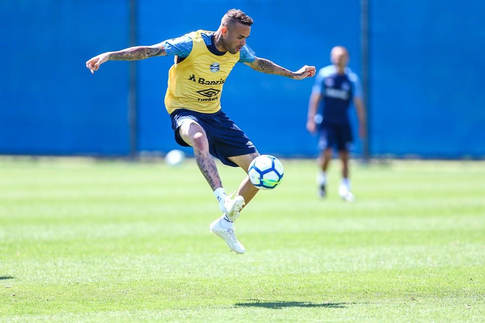 Luan, atacante do Grêmio, terá papel ainda mais decisivo — Foto: Lucas Uebel / Grêmio, DVG