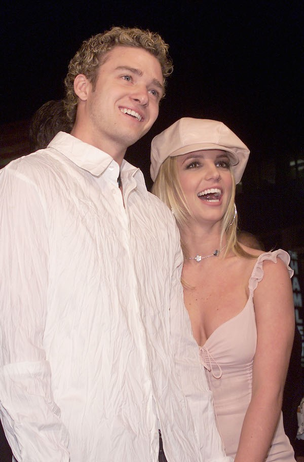 Justin Timberlake e Britney Spears em foto de 2002 (Foto: Getty Images)