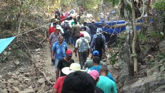 Desmoronamento de galeria na 'nova Serra Pelada' deixa ao menos 5 feridos