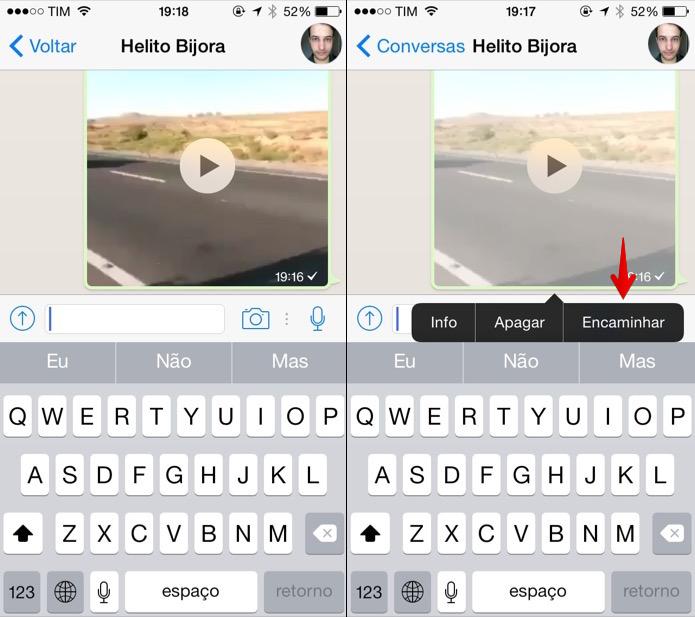 WhatsApp  como compartilhar fotos e vídeos no Facebook pelo iOS ... fbc8dbd7216e