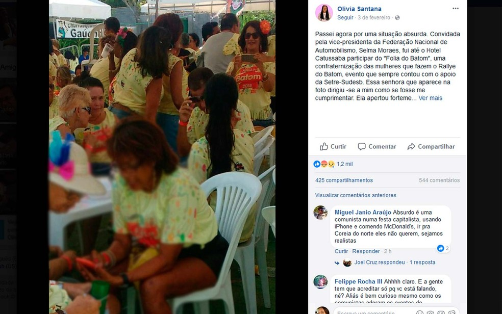 Secretária denuncia agressões racistas em redes sociais após mulher mandar ela voltar para favela durante evento em hotel de Salvador (Foto: Reprodução/Facebook)