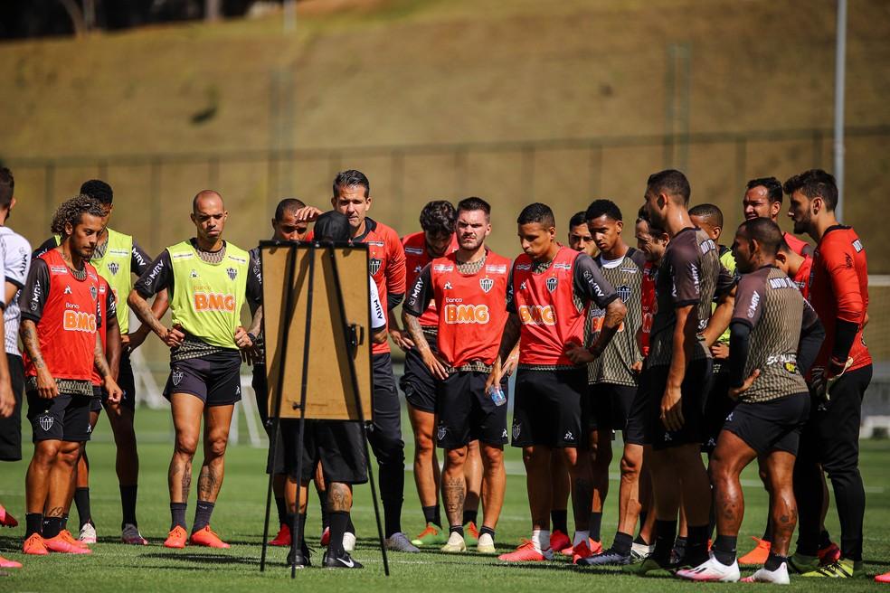 Jorge Sampaoli comanda intertemporada de treinos no Atlético-MG — Foto: Bruno Cantini/Atlético-MG
