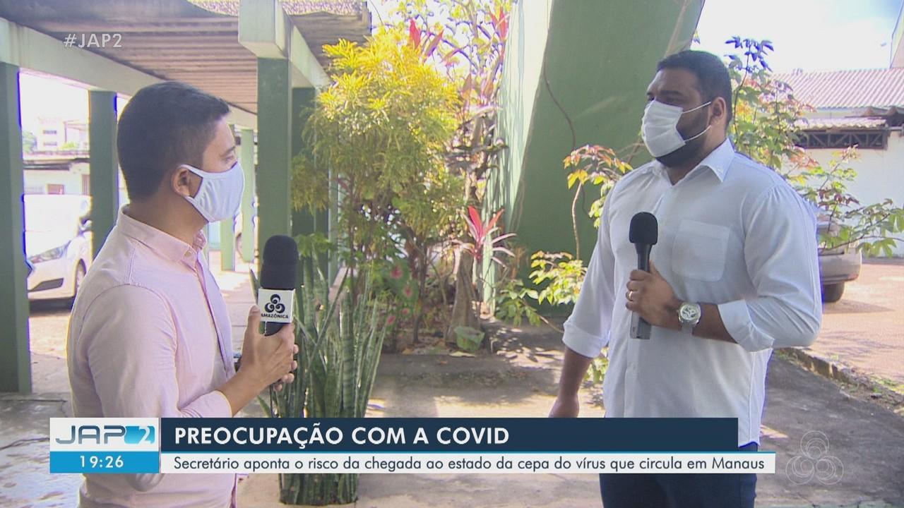 Secretário de saúde demonstra preocupação com possíveis casos de nova variante da Covid-19