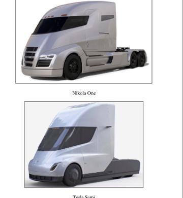 Comparação entre caminhões (Foto: Reprodução/United States District Court for the District of Arizona)