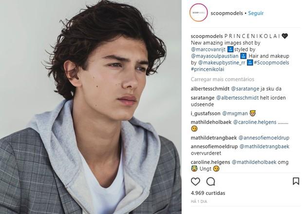Príncipe Nikolai, da Dinamarca (Foto: Reprodução/Instagram)