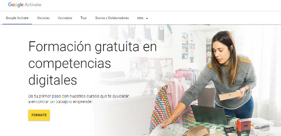 Google Activate oferece diversos cursos online gratuitos do Google (Foto: Foto: Reprodução/Lívia Dâmaso)