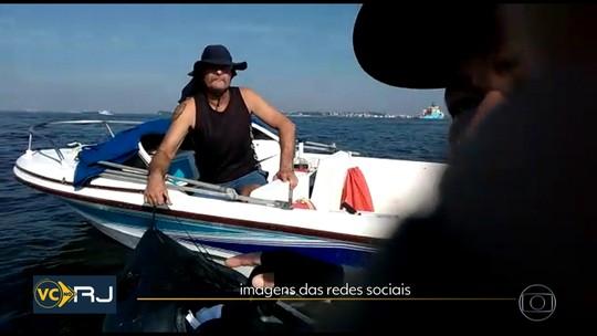 Homem é assaltado no meio da Baía de Guanabara