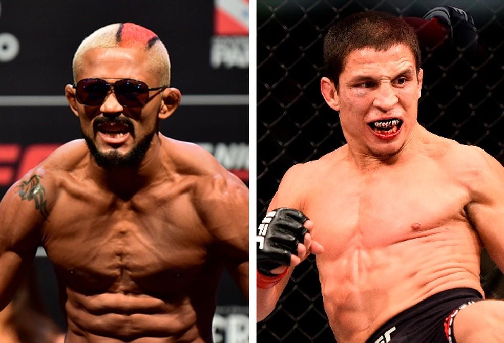 Deiveson Figueiredo e Joseph Benavidez medem forças no UFC 233 — Foto: Arte Combate.com