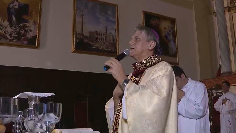 Dom Aldo Pagotto, arcebispo emérito — Foto: TV Cabo Branco/Reprodução