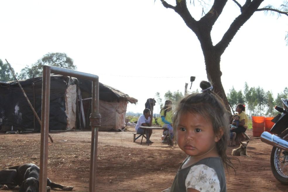 Criança indígena da aldeia Limpa Campo — Foto: Omar Taleb