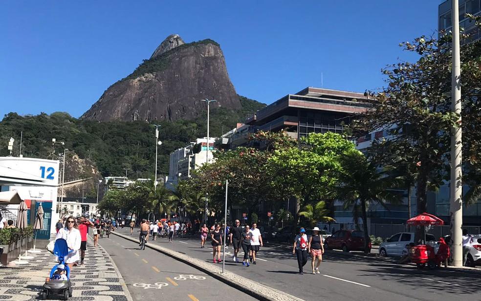 Previsão é de tempo bom neste domingo no Rio (19) (Foto: Mariana Queiroz / GloboNews)