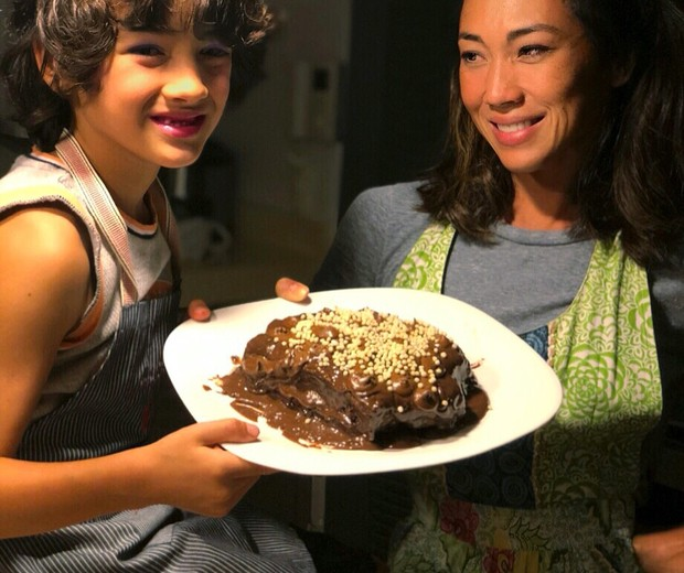 Dani Suzuki com o filho Kauai (Foto: Arquivo Pessoal)