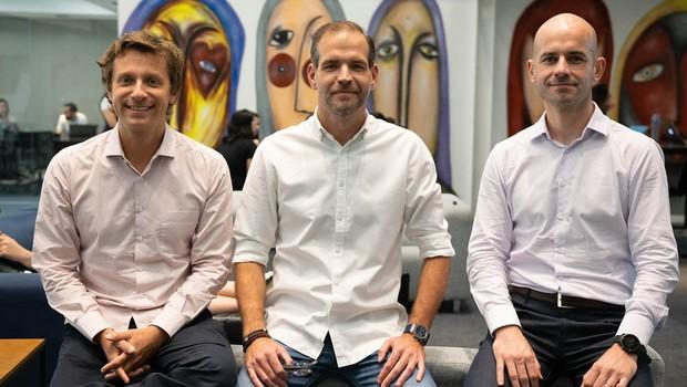Co-fundadores do Ebanx: Alphonse Voigt, CEO, Wagner-Ruiz, CFO e Joao Del-Valle, COO (Foto: Divulgação)