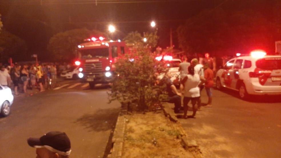 Motorista atropelou 17 pessoas que estavam em bar, em Nova Independência; duas morreram — Foto: Arquivo Pessoal