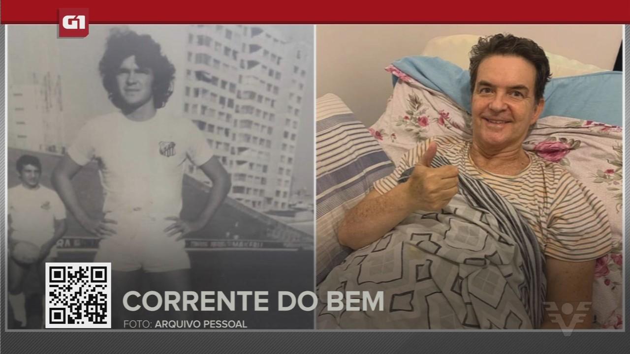G1 em 1 minuto - Santos: Ex-jogador do Santos pede ajuda após doença o deixar paralítico
