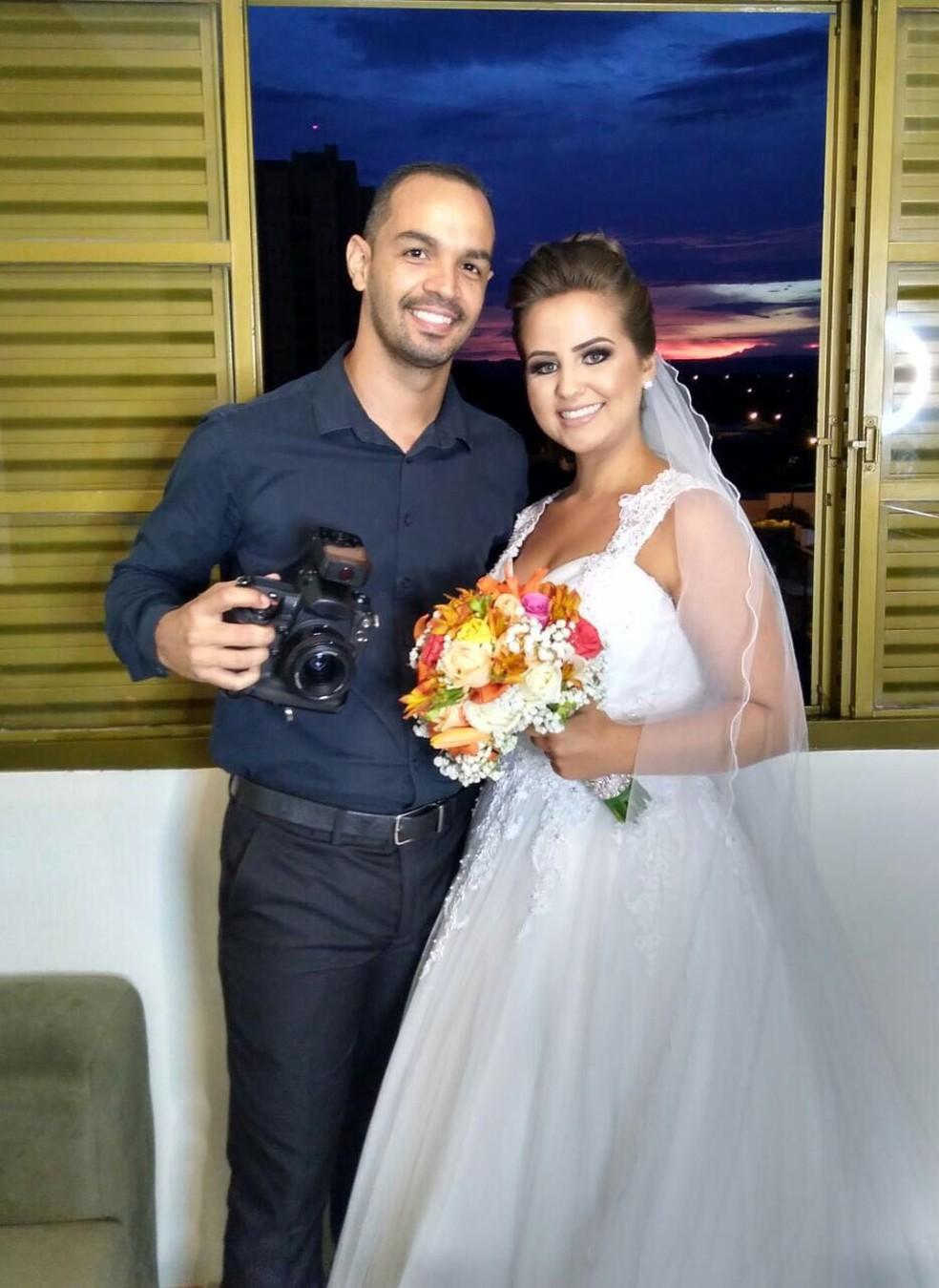 Luana e o fotógrafo Sérgio Simões (Foto: Arquivo pessoal)