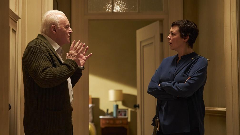 """Anthony Hopkins e Olivia Colman vivem uma relação complicada no filme """"Meu Pai"""" — Foto: Divulgação"""