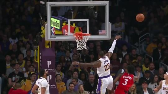 Atual campeão, Toronto Raptors sufoca LeBron James e quebra sequência de vitórias dos Lakers