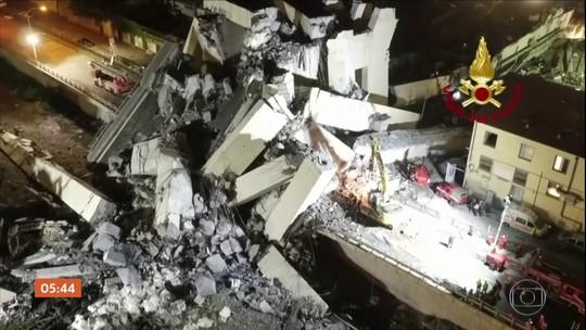 Queda de ponte na Itália deixa dezenas de mortos