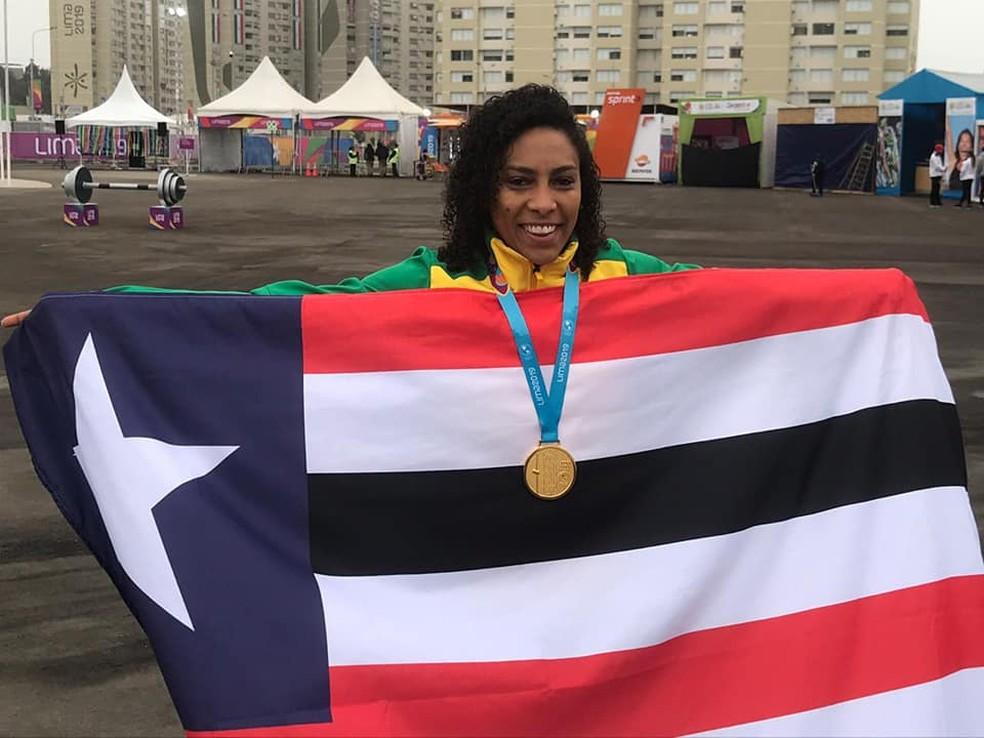Ana Paula tricampeã pan-americana — Foto: Divulgação