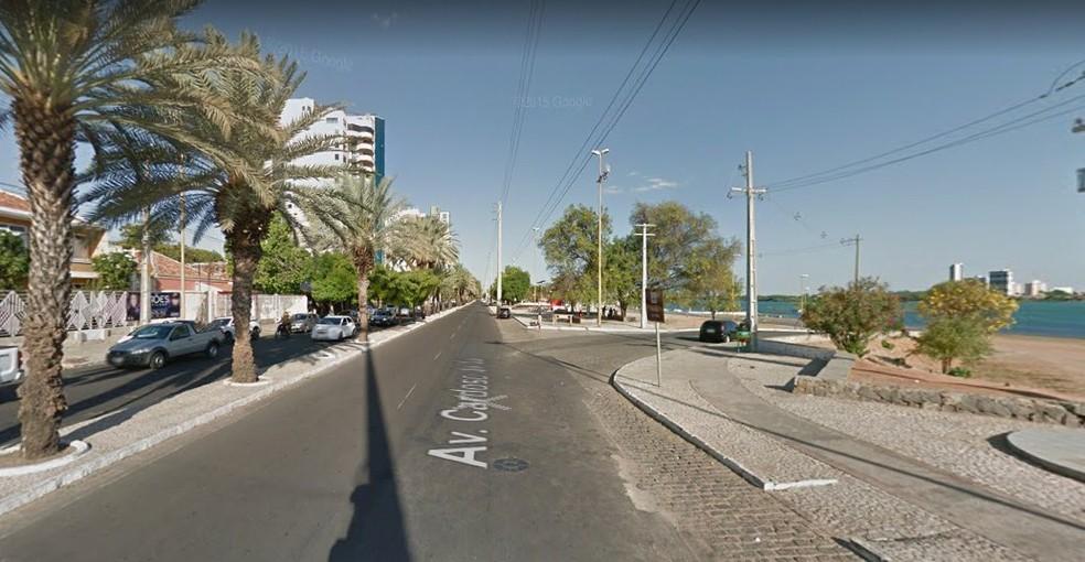 A festa de réveillon em Petrolina será realizada na orla da cidade (Foto: Reprodução / Google Street View )