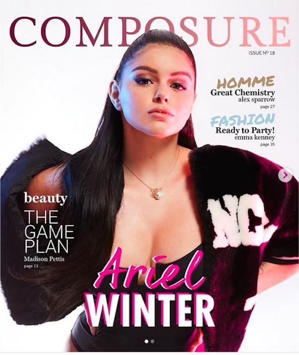 A atriz Ariel Winter em foto de seu ensaio para a revista Composure (Foto: Instagram)