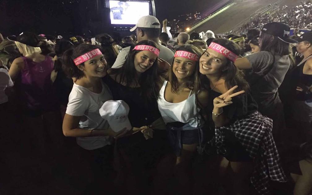Amigas de SP vêm ao Rio para show do astro (Foto: Fernanda Rouvenat/G1)