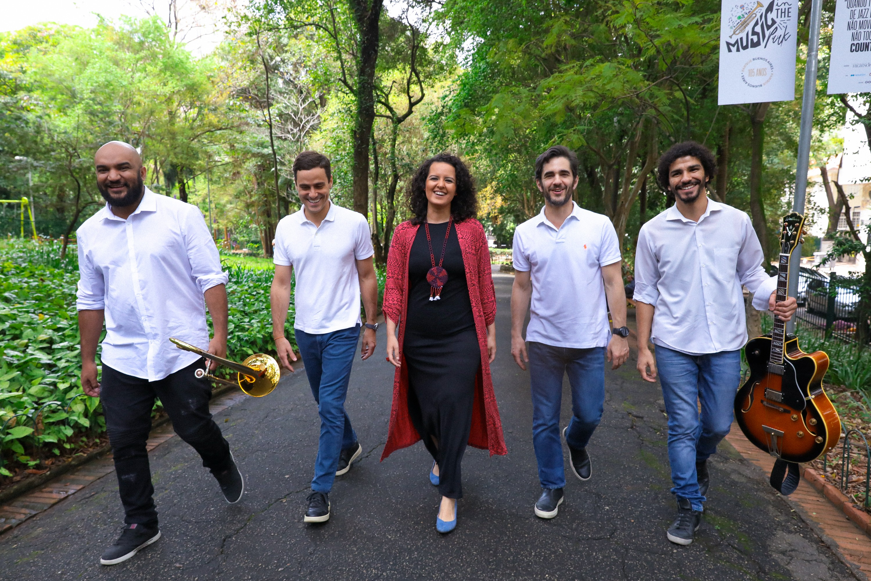 Felipe Garcia Quarteto, Guilherme Berenguer , Karine Aguiar, Anuar Tacach e Jorginho Neto (Foto: Divulgação)
