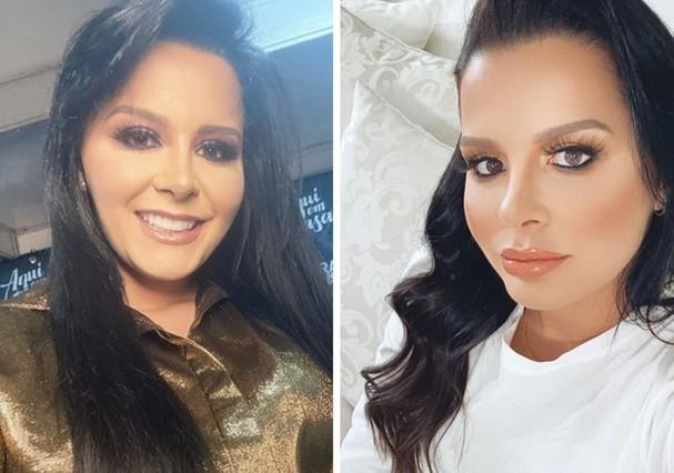 Maraísa antes e depois (Foto: Reprodução/Instagram)