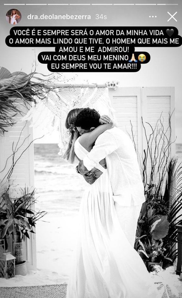 Deolane Bezerra dá adeus a MC Kevin (Foto: Reprodução Instagram)