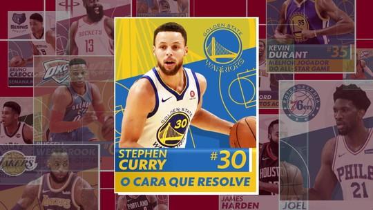 Curry leva Warriors para a quinta final consecutiva de conferência e é o cara da semana na NBA