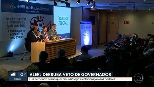 Pezão critica aposentadorias de militares e diz que, sem reforma, folha do RJ aumentará em R$ 1,2 bilhão em um ano e meio