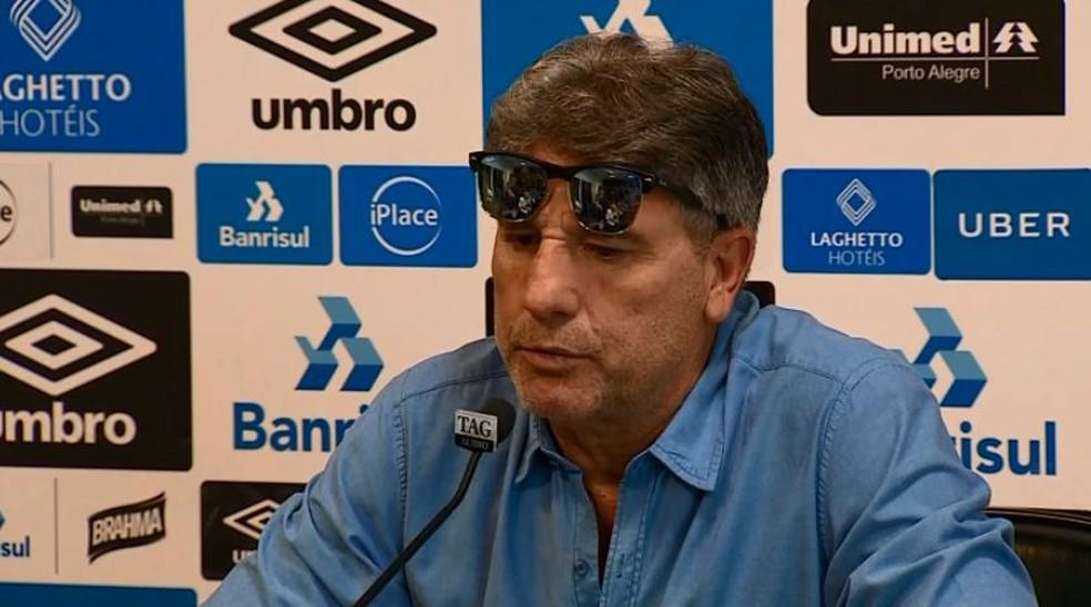 Renato Gaúcho, técnico do Grêmio — Foto: Reprodução